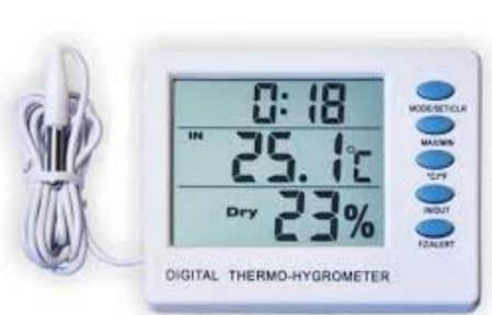 Измерить влажность воздуха и температуру