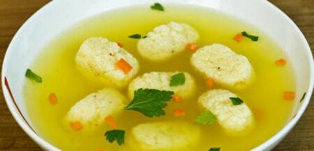 Суп с клецками для ребенка на обед