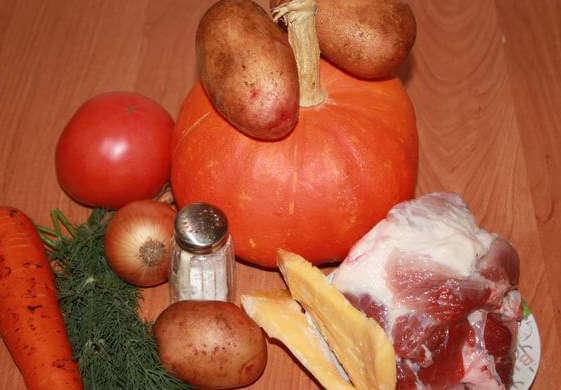 Фаршированная тыква с помидорами и сыром в духовке