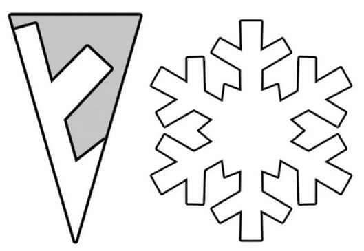 Очень простые шаблоны снежинок