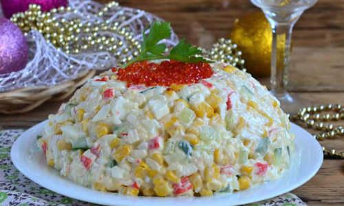 крабовый салат по классическому рецепту