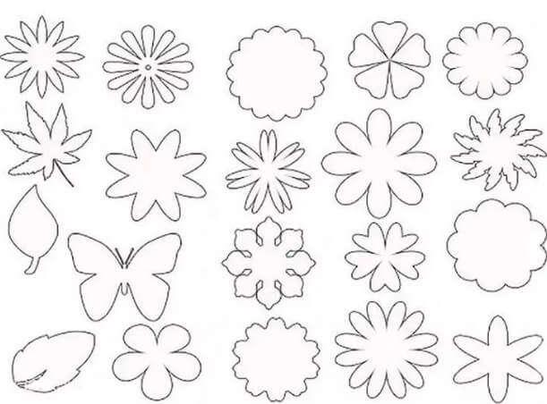 Шаблоны цветов и бабочек для вырезания