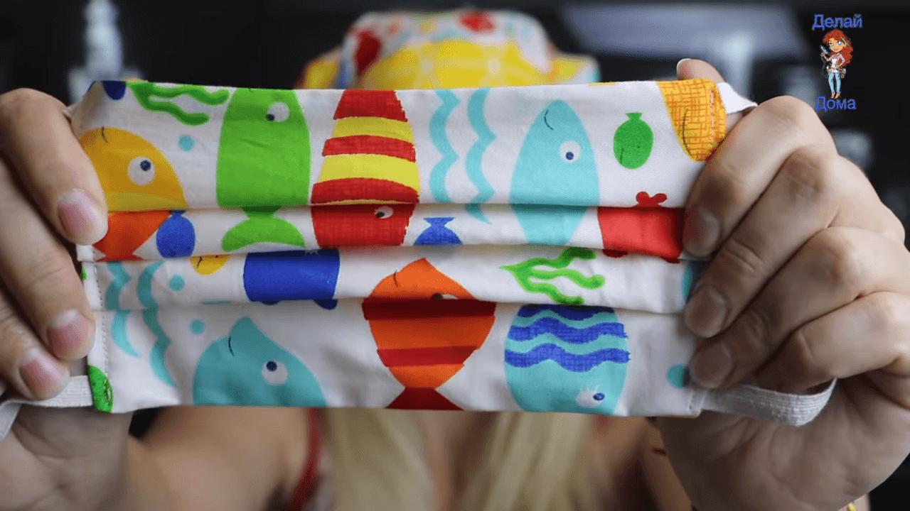 Маска из ткани без выкройки