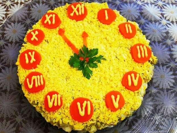 вкусный праздничный салат с корейской морковкой